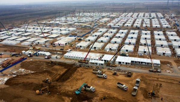 China is rushing to build a massive quarantine camp that can house more than 4,000 people, after an outbreak of COVID-19 this month that has left tens of millions of people under strict lockdown. — Courtesy photo