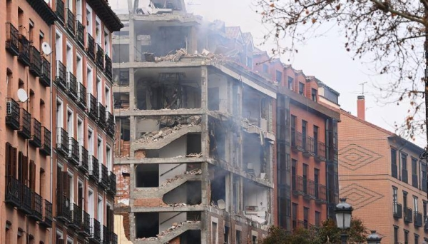 At least three people have died and 11 have been injured in a gas explosion that ripped the facade off a building in central Madrid on Wednesday, according to the city's mayor, José Luis Martínez-Almeida. — Courtesy photo