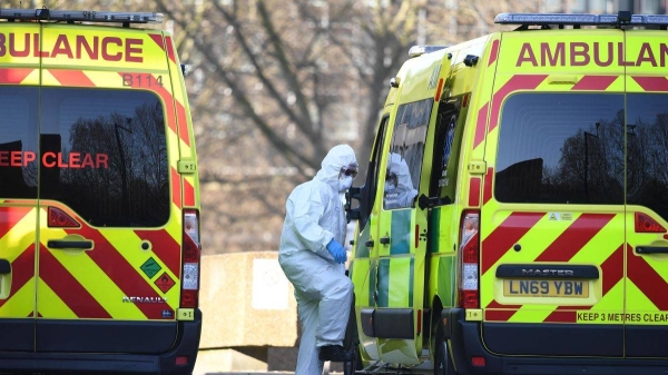 The United Kingdom on Wednesday logged a new daily record of the number of people who have died within 28 days of testing positive for COVID-19 at 1,820, according to Public Health England. — Courtesy photo