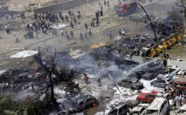 Twin suicide bombs rocked a busy market in central Baghdad on Thursday morning, killing at least 32 people and injuring 110 others, according to officials and state media. — Courtesy file photo