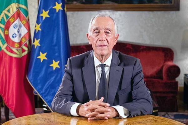 President Marcelo Rebelo de Sousa who is leading in polls.