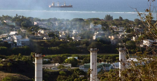 A thermal power plant in Port Louis, Mauritius is contributing to greenhouse gas emissions on the Indian Ocean island. — courtesy UNDP Mauritius/Stéphane Bellero