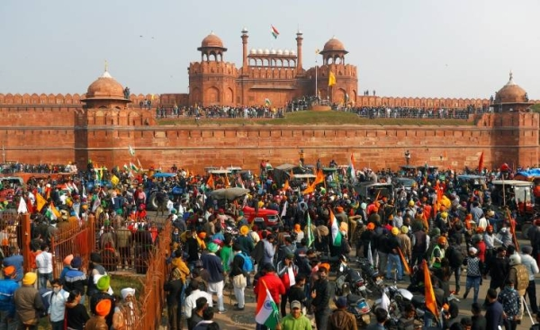 The Indian capital was placed on a high-security alert on Wednesday, a day after protesting farmers broke barricades, clashed with police and stormed Delhi's historic Red Fort. — Courtesy photo