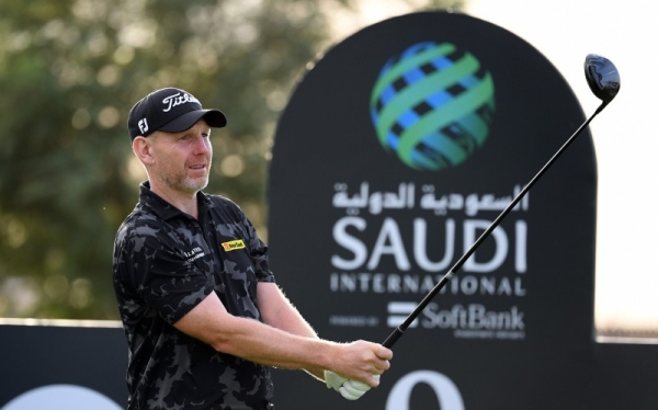 Ryan Fox of New Zealand plays his third shot on the 9th hole during Day Two of the Saudi International powered by SoftBank Investment Advisers at Royal Greens Golf and Country Club in King Abdullah Economic City, Saudi Arabia, on Friday.
