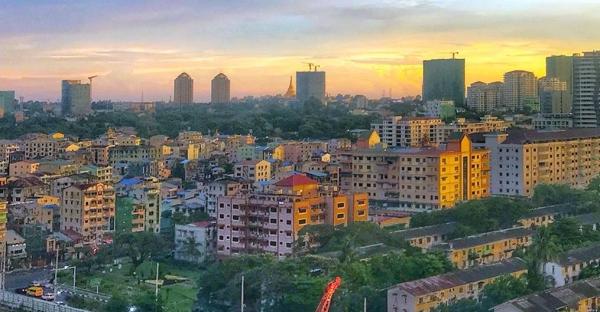 The city of Yangon, Myanmar, at sunset. — courtesy Unsplash/Anjani Kumar