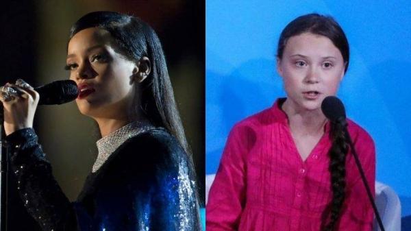 Singer Rihanna, left, and activist Greta Thunberg. — Courtesy photo