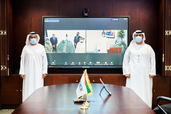 Abu Dhabi Exports Office (ADEX), the export-financing arm of Abu Dhabi Fund for Development, on Wednesday signed a 22 million dirhams ($6 million) loan agreement with the Egypt-based Emirati firm Jenaan Pipes & Irrigation Systems SAE. — WAM photo