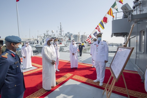 The United Arab Emirates has inaugurated a multi-mission vessel, marking its joining the country's existing naval fleet. — WAM photos