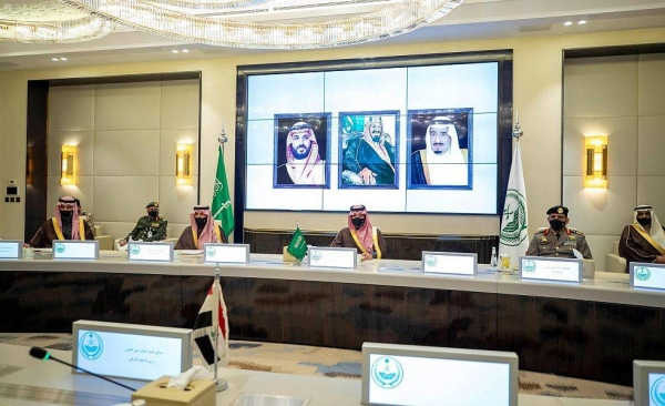Saudi Arabia's Interior Minister Prince Abdulaziz Bin Saud Bin Naif met on with his Iraqi counterpart, Othman Ali Al-Ghanimi, here on Monday. — SPA photos