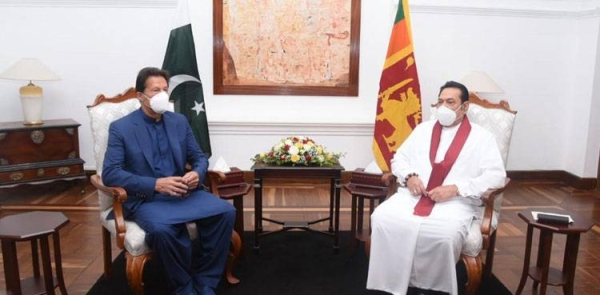 Pakistani Prime Minister Imran Khan met on Tuesday with held a meeting with his Sri Lankan counterpart Mahinda Rajapaksa at Temple Trees here. — Courtesy photos