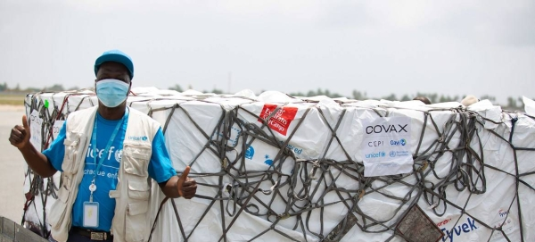 A total of 504,000 COVID-19 vaccine doses from the COVAX facility have arrived in Ivory Coast. Courtesy file photo