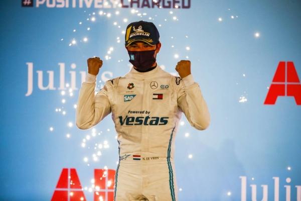 Nyck de Vries, the Mercedes-EQ Formula E - Diriyah E-Prix