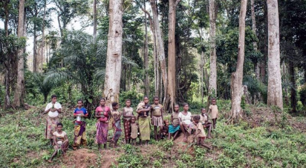 Members of an indigenous community, living in the forests in one of the most remote regions of Republic of the Congo. — courtesy UNICEF/Vincent Tremeau