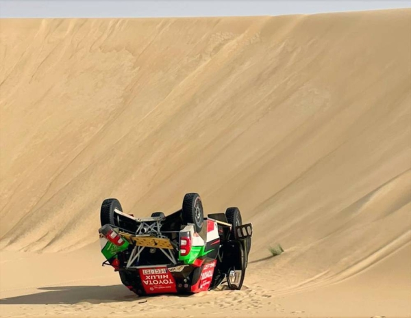 An accident sidelined Yazeed Al-Rajhi at the Sharqiyah Baja