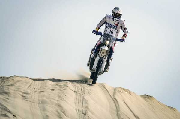 Dune bike action from a recent Qatar Cross-Country Rally.