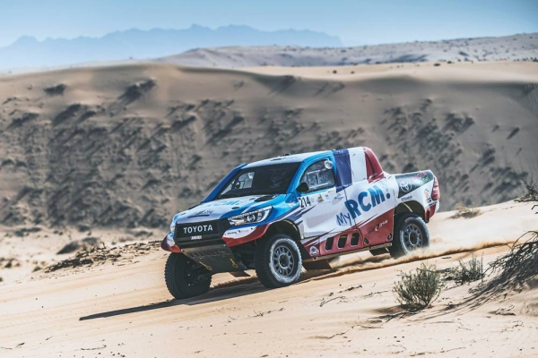 Ronan Chabot in action at the second  Hail Baja in Saudi Arabia in December.