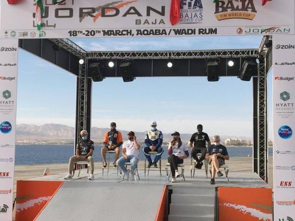 Yasir Seaidan at the start of the Jordan Baja