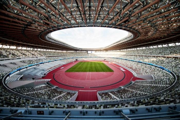 The Tokyo 2020 Olympic Games stadium that was opened in December.