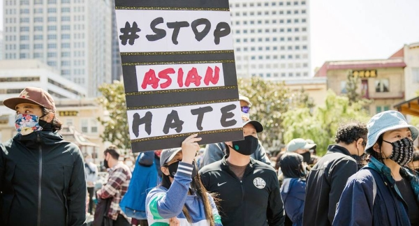 In San Francisco in the United States, demonstrators take to the streets to protest against the rise of race-related hate crimes against people of Asian descent. — courtesy Unsplash/Jason Leung