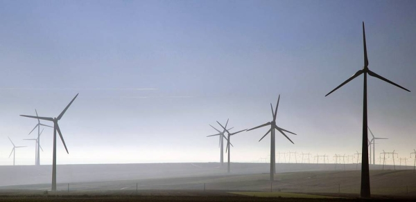 Using wind to produce energy has fewer effects on the environment than many other energy sources. — courtesy World Bank/Jutta Benzenberg