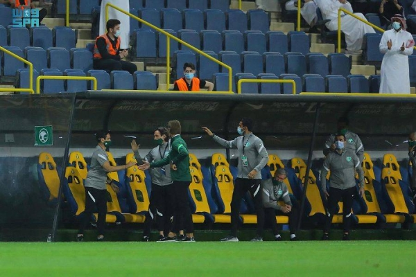 Saudi Arabia cruised to a 5-0 victory over Palestine at the