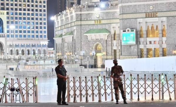 Armed man arrested in Grand Mosque