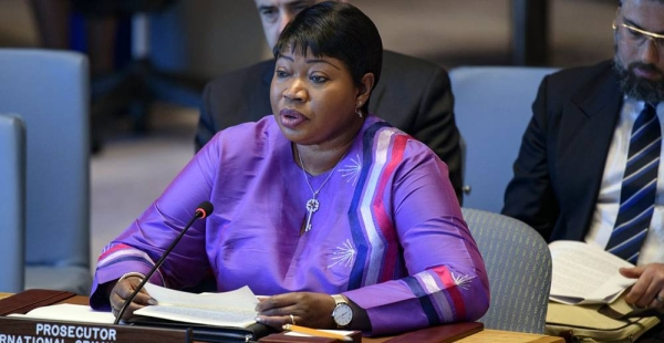 File photo of the Prosecutor of the International Criminal Court (ICC), Fatou Bensouda, briefing the UN Security Council on Libya in May 2019. — courtesy UN Photo/Loey Felipe