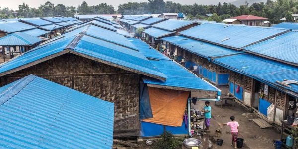 As of the start of 2021, about one million people are in need of humanitarian aid and protection in Myanmar. Pictured here, an IDP camp in Myanmar's Kachin province. — courtesy UNICEF/Minzayar Oo (file)