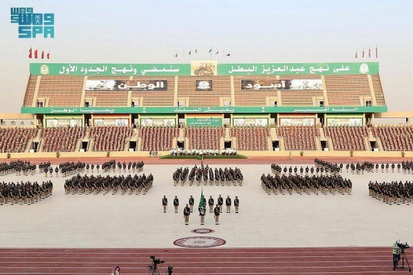 On behalf of Crown Prince Muhammad Bin Salman, Chief of General Staff Fayyad Bin Hamid Al-Ruwaili patronized the graduation ceremony of the 79th batch of King Abdulaziz Military College. — SPA photos