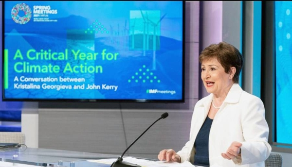 IMF Managing Director Kristalina Georgieva joined US Special Presidential Envoy for Climate John Kerry to discuss how to turn climate ambitions into action while creating vibrant and inclusive opportunities as part of the transition to the new climate economy.
