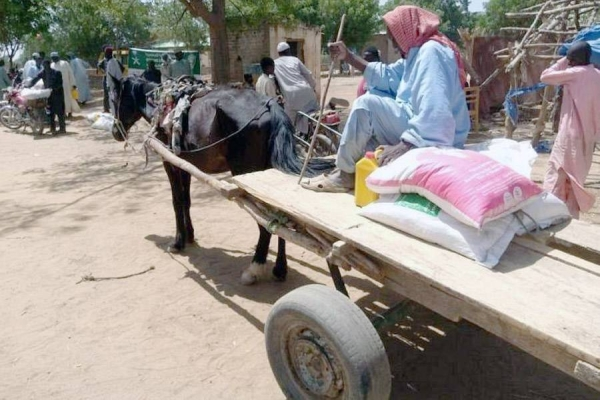 KSrelief distributed 559 Ramadan food baskets, in a number of villages in the Republic of Chad.