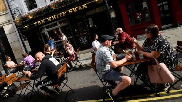 People in England are poised for their first chance in months for haircuts, casual shopping and restaurant meals on Monday, as the government takes the next step on its lockdown-lifting road map. — courtesy Twitter