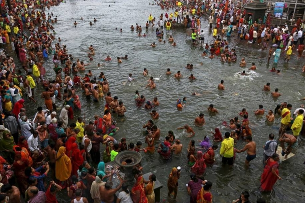 Hindu devotees packed the streets of Haridwar, in northern India, on Monday for the largest religious pilgrimage on Earth, in scenes that defied social distancing rules just as COVID-19 infections soared in the country. — Courtesy file photo