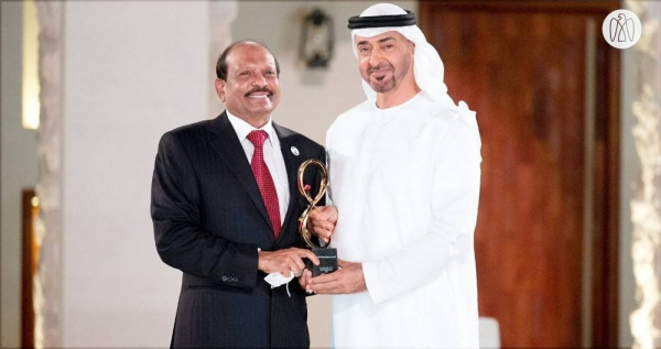 Yusuff Ali MA, prominent NRI businessman and chairman of retail group LuLu has been honored with Abu Dhabi's top civilian award.