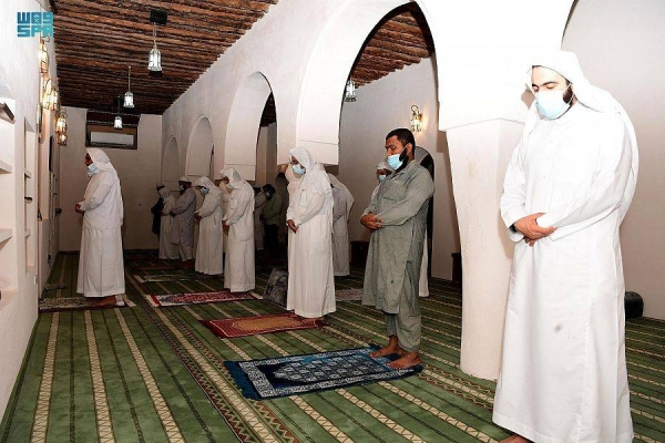Abu Bakr Mosque is one of the oldest heritage buildings in the middle of the old Al-Kut neighborhood in Al-Hofuf, Al-Ahsa governorate, about 200 meters east of Al-Kut cemetery, and about 390 meters southwest of Ibrahim Palace. — SPA photos