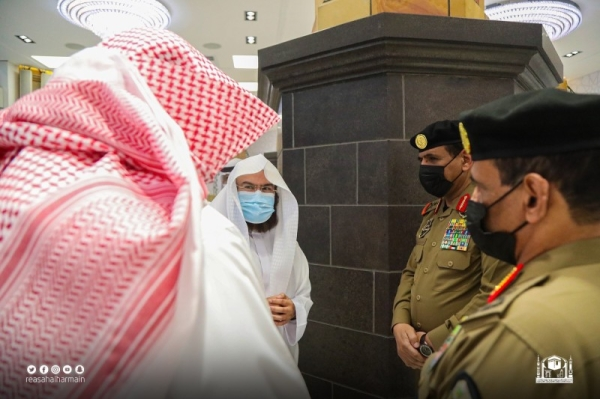 Al-Sudais, Al-Harbi discuss security plans at the Grand Mosque