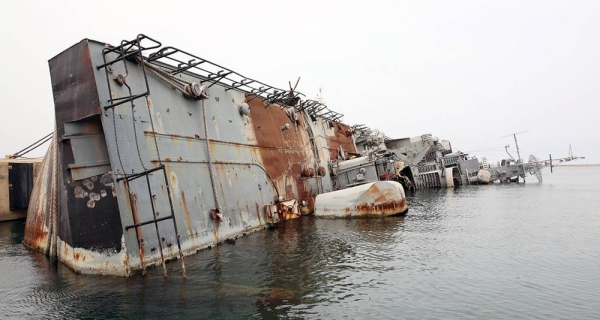 A destroyed warship at Tripoli naval base, in Libya, a symbol of ongoing conflict in the country. — courtesy UNSMIL/Abel Kavanagh