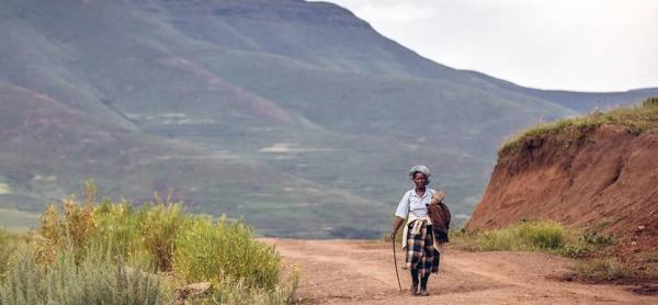 Lesotho's elderly population is at high risk from COVID-19. — courtesy UNICEF/Karin Schermbrucker
