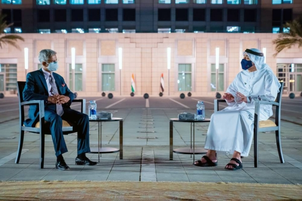 Minister of Foreign Affairs and International Cooperation Sheikh Abdullah Bin Zayed Al Nahyan received on Sunday Indian Minister of External Affairs Dr. Subrahmanyam Jaishankar.