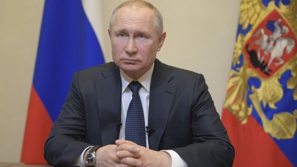 Russian President Vladimir Putin called on his foreign rivals not to