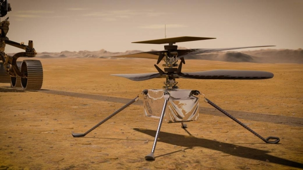 The Ingenuity helicopter successfully completed a second flight on Mars on Thursday, and it was even more challenging than the first. — Courtesy — NASA