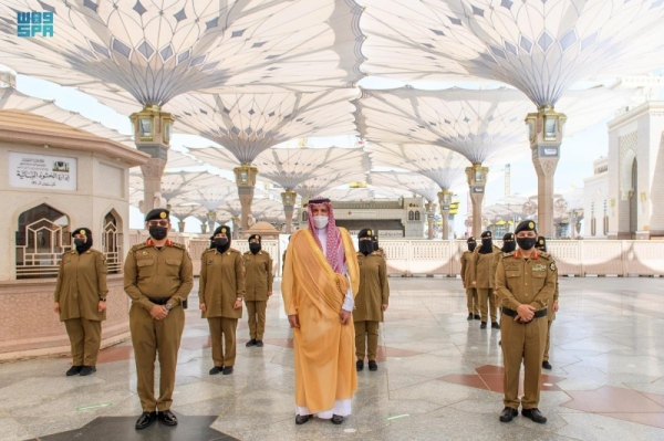 report MADINAH — The first batch of the women personnel of the Special Security Force deployed at the Prophet's Mosque are offering the best possible services to women worshipers and visitors during the holy month of Ramadan.
