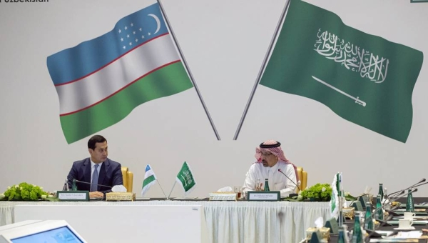 Minister of Investment Eng. Khalid Bin Abdulaziz Al-Falih and Deputy Prime Minister and Minister of Investments and Foreign Trade of the Republic of Uzbekistan Umurzakov Sardor co-chair the Saudi-Uzbek Joint Committee meeting.
