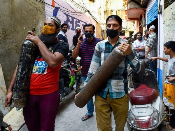 Coronavirus infections in India hit another grim daily record on Thursday as demand for medical oxygen jumped seven-fold. — Courtesy file photo
