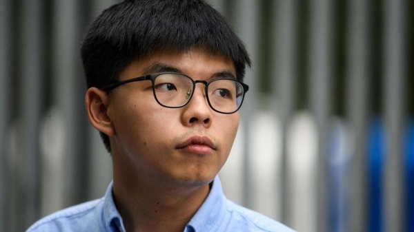 A Hong Kong court has sentenced Joshua Wong and three other activists to between four and 10 months in prison for participating in an unauthorized rally last year to commemorate the 1989 Tiananmen Square crackdown. — Courtesy file photo