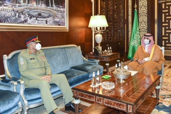 Saudi Arabia's Deputy Defense Minister Prince Khalid Bin Salman met here early Friday with Pakistan's Chief of the Army Staff Gen. Qamar Javed Bajwa.