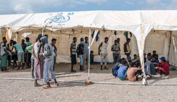 Migrants who survived the capsizing of a smugglers boat in the Gulf of Aden were brought ashore in Obock in Djibouti. — courtesy IOM/Olivia Headon