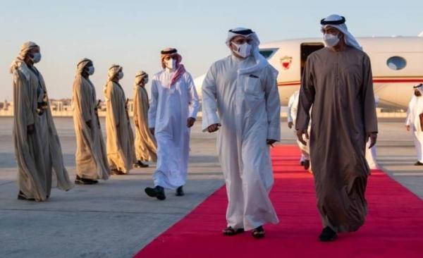 Bahrain's Crown Prince Salman Bin Hamad Al-Khalifa met here on Monday with Abu Dhabi Crown Prince Sheikh Mohammed Bin Zayed Al-Nahyan. — BNA photos