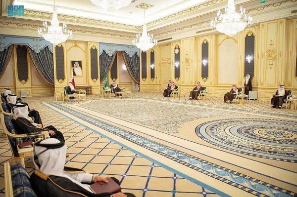 Crown Prince Muhammad Bin Salman met with Qatar's Emir Sheikh Tamim Bin Hamad at the Royal Court at Al-Salam Palace here early Tuesday.