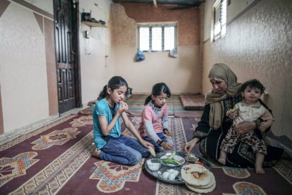 WFP provides poor and food insecure families in Gaza with electronic food vouchers which give them access to nutritious local products such as eggs and yoghurt in selected retail shops. — courtesy WFP/Wissam Nassar